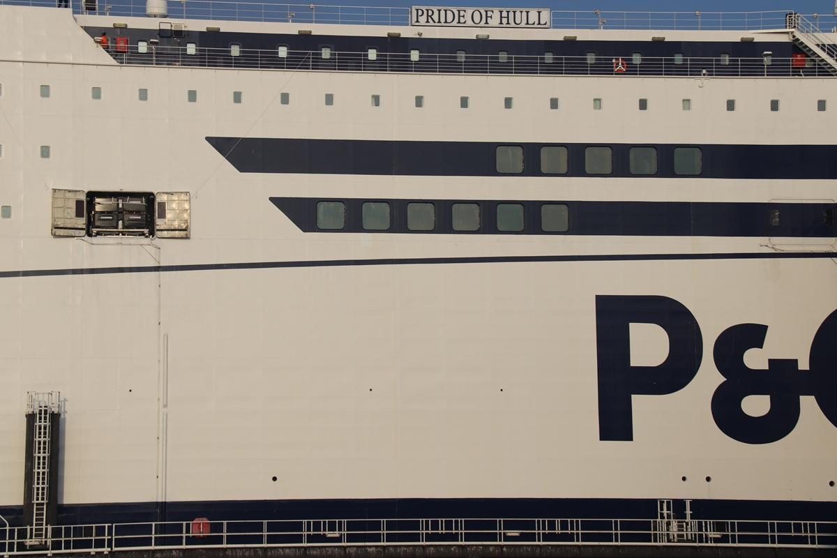 Evacuatiesysteem ingepakt Pride of Hull